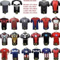 RECOMMEND baju kaos kostum super hero ultah olahraga renang anak