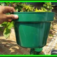 Pot Bunga 25cm 4pcs Warna - Pot Tanaman Plastik ukuran diameter 2