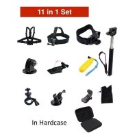 Set 11 In 1 Outdoor Sport Action Camera Accessories Kit for GoPro