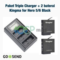 Smatree set (Baterai + Charger) Gopro Hero 5 black