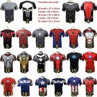 Terbaru Baju Kaos Kostum Super Hero Ultah Olahraga Renang Anak Costume
