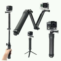 Monopod Adjustable 3-Way Multi Fungsi for Action Camera GoPro Hero