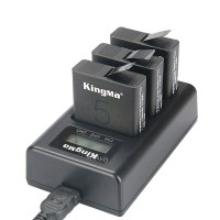 Kingma Charger Baterai Kamera Aksi 3 Slot for GoPro Hero 5-6-7 Action