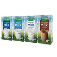 Susu Greenfields UHT 1 Lt Full Cream Low Fat Coklat Skimmed Milk Liter