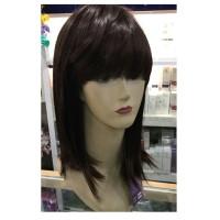 Wig Rambut Palsu Panjang Sebahu Shaggy Bahan Sintetis Poni Jepang