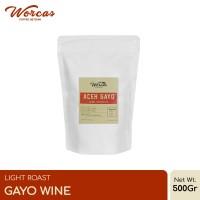 "Kopi Arabica Aceh Gayo ""Wine"" 500 Gram Light Roast (Biji/Bubuk)"