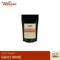 "Kopi Arabica Aceh Gayo ""Wine"" 100 Gram Light Roast (Biji/Bubuk)"