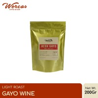 "Kopi Arabica Aceh Gayo ""Wine"" 200 Gram Light Roast (Biji/Bubuk)"