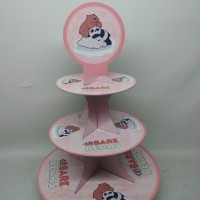 cupcake stand we bare bear / cupcake tier we bare bear