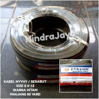 Kabel Serabut / NYYHY 2x1.5 Hitam Merk Dynamic Panjang 50 Yard