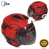 Helm Motor evolution Lorenzo outride Red F doff bukan GM BXP NHK