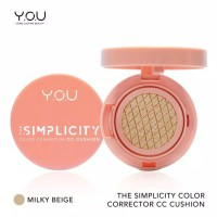 The Simplicity Color Corrector CC Cushion by You Makeups - Milky Beige