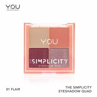 The Simplicity Eyeshadow Quad by You Makeups - Smart
