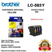 BROTHER Tinta LC583Y   LC583 Y Original LC-583Y Yellow