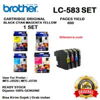 BROTHER Tinta 1SET LC-583BK CMY   LC583BK CMY Original LC583
