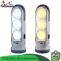 Lampu Emergency + Senter 1 Watt - Cahaya Putih & Kuning MS-6033
