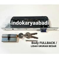 Body kunci pintu silinder lidah biasa daun murah bagus anak kunci 3