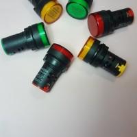 PILOT LAMP/LAMPU INDIKATOR/LAMPU SIGNAL/LAMPU HIJAU/KUNING/MERAH 22mm - Merah