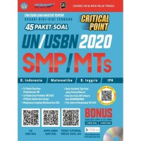 BEST SELLER CRITICAL POINT 45 PAKET SOAL UN/USBN 2020 SMP/MTs