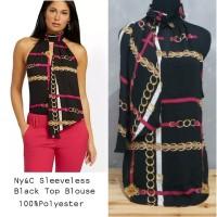 Ny&C black sleeveless top blouse - Hitam, S