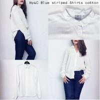 Ny&C Blue striped shirts cotton