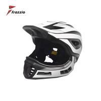 FRAZZIO FR-918 Bike Full Face 2 in 1 Helmet - Helm Sepeda BLACK WHITE
