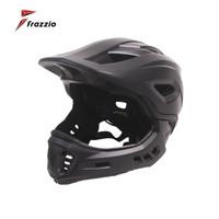 FRAZZIO FR-918 Bike Full Face 2 in 1 Helmet - Helm Sepeda BLACK MATT