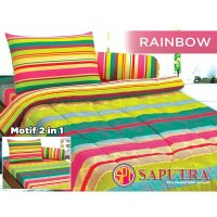 Saputra Bed Cover Set King Rainbow / Bedcover 180x200
