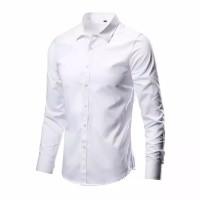Baju Kemeja Lengan Panjang Pria putih Polos