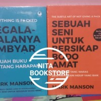 1 PAKET 2 BUKU BEST SELLER MOTIVASI PENULIS : MARK MANSON BOOKPAPER