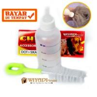 Dot Botol Susu Hewan Anjing Kucing Monyet Musang Luak + Sikat Botol