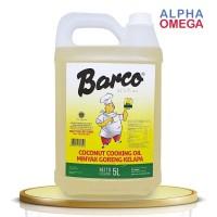 BARCO COOKING COCONUT OIL - JERIGEN 5 LITER - MINYAK GORENG KELAPA