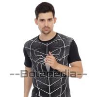 Baju kaos SPIDERMAN 3D kaos superhero distro pria (SPIDER BLACK)
