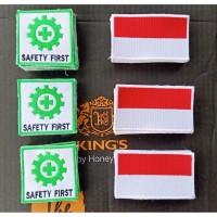 LOGO K3 BORDIR SAFETY FIRST+ MERAH PUTH