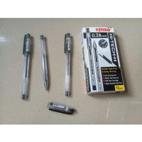 Pulpen Hitam 0.28mm Hi-Tech Needle Fine and Softly Writing - Kenko