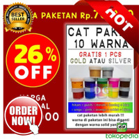 PAKET 5 WARNA Cat Tekstil utk lukis di kaos
