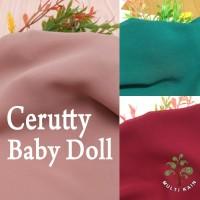 Bahan Multi Kain Ceruti Cerutty Cerutti Seruti Baby Doll per 0.5Meter