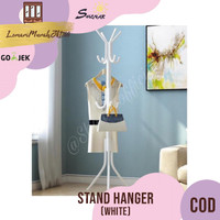 Multifunction Stand Hanger / Gantungan Baju Tas Topi - White,SHENAR