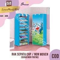 Rak Sepatu CHP Cover Karakter 10 Susun 2Kg - DORAEMON FRIEND ,SHENAR