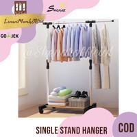 Single Hanger / Gantungan Baju dengan 4 roda,SHENAR