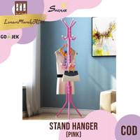 Multifunction Stand Hanger / Gantungan Baju Tas Topi - Pink,SHENAR