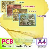 Kertas Transfer PCB A4 Kuning Jalur Papan Heat Thermal Print Toner