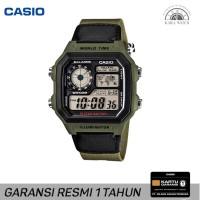 Casio ILLUMINATOR AE-1200WHB-3BVDF Original Jam Tangan Pria World Time