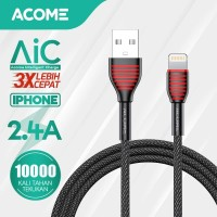 ACOME Kabel Data/Charger iPhone 100cm Fast Charging 2.4A ASL010