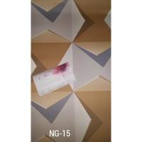 Wallpaper Vinyl Premium 53cm x 10m motif mewah berserat tebal bermutu