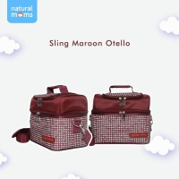 Natural Moms Sling Maroon Otello Cooler Bag / Tas Asi Bayi