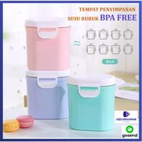Kotak Tempat Penyimpanan Toples Susu Bubuk Bayi Snack BIskuit 400 ml