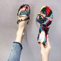 Sandal sendal wanita jepit flip flop flat teplek daff 21