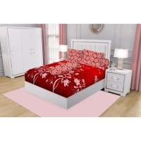 SPREI QUEEN CALIFORNIA FITTED 160X200 2 IN 1 VERENA + Free Masker