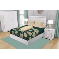 SPREI KING CALIFORNIA FITTED 180X200 GREEN SAPPHIRE + Free Masker